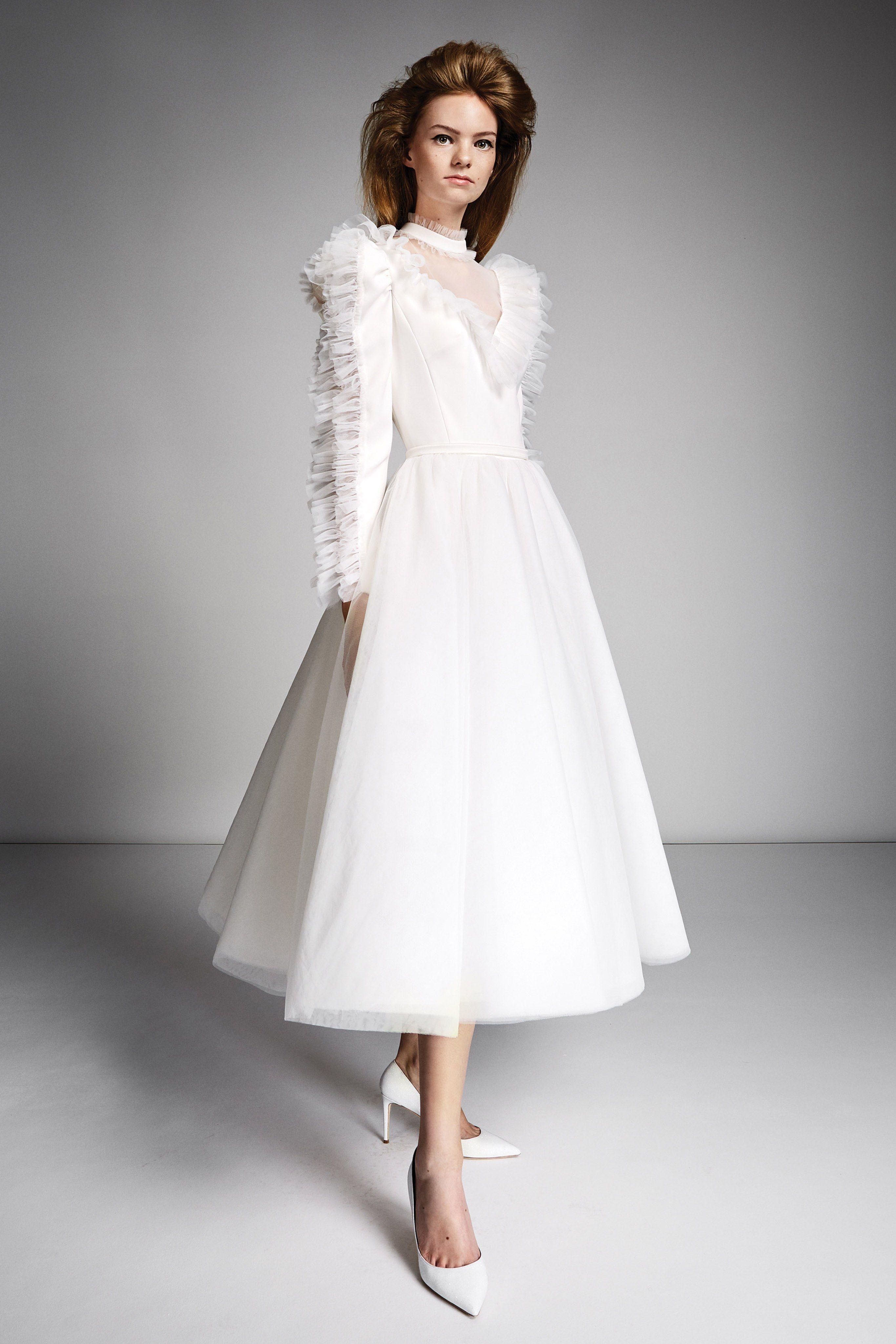 8a19cc9afc 80 Short Wedding Dresses - Tea Length and Knee Length White Wedding Dress  Ideas
