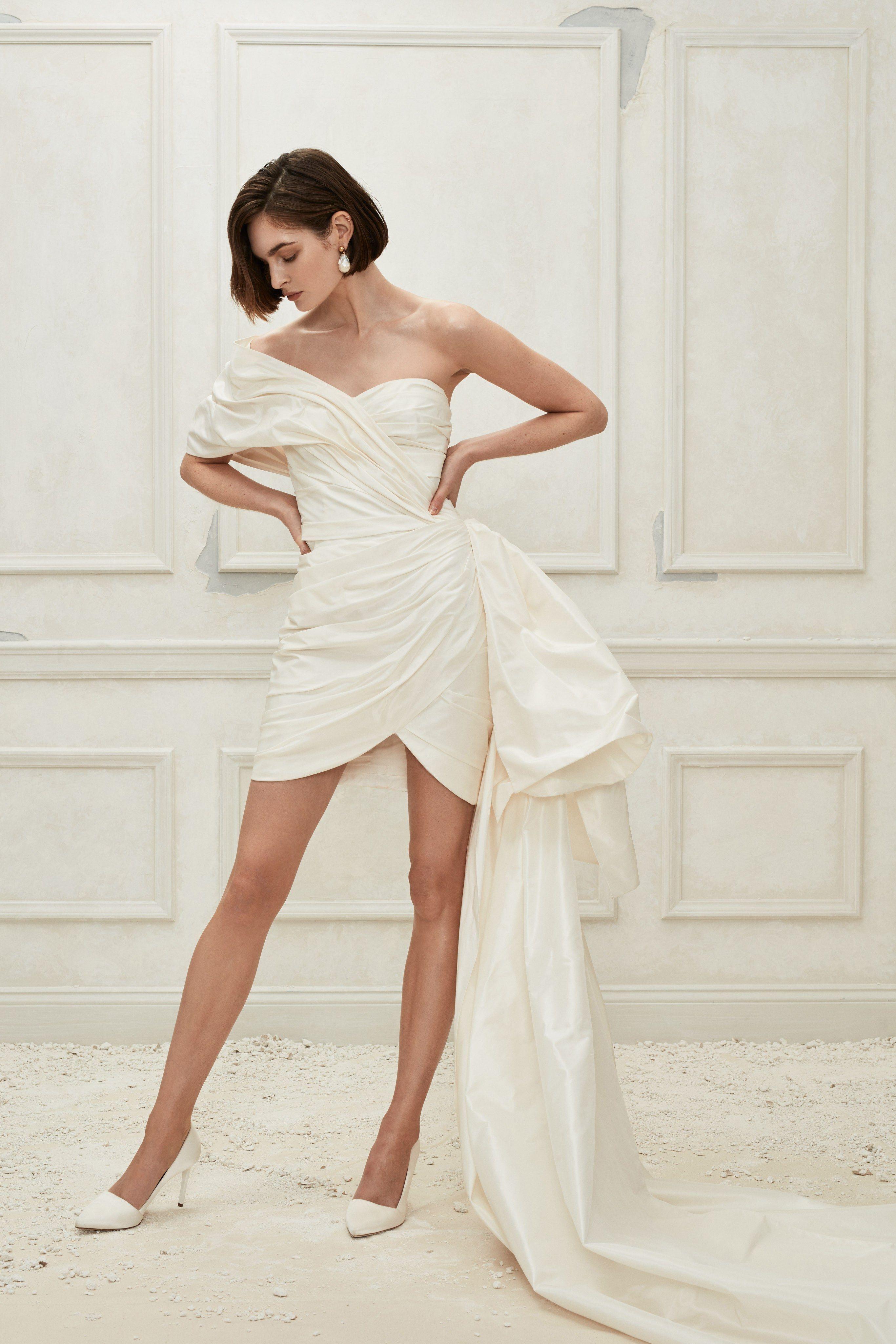 80 Short Wedding Dresses , Tea Length and Knee Length White