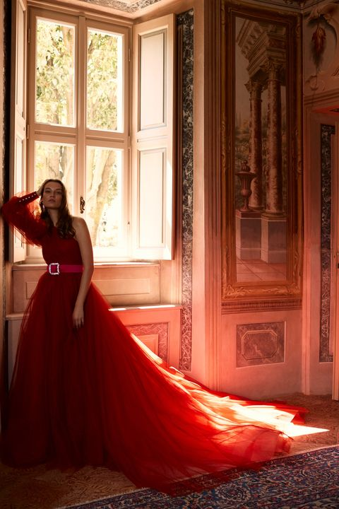 Gown, Dress, Red, Clothing, Photograph, Wedding dress, Bridal clothing, Beauty, Bride, Orange,