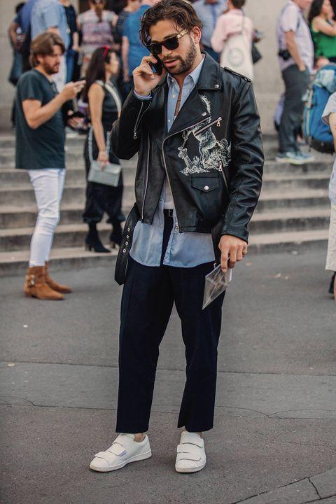 White, Street fashion, Photograph, Jeans, People, Fashion, Snapshot, Jacket, Eyewear, Street,