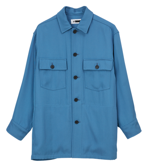 Clothing, Blue, Sleeve, Turquoise, Outerwear, Collar, Button, Pocket, Aqua, Electric blue,