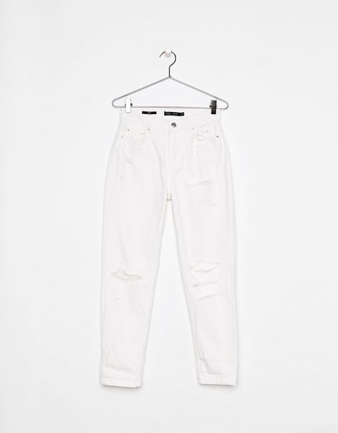 White, Clothing, Trousers, Active pants, Jeans, Sleeve, Sportswear, Denim, Clothes hanger,