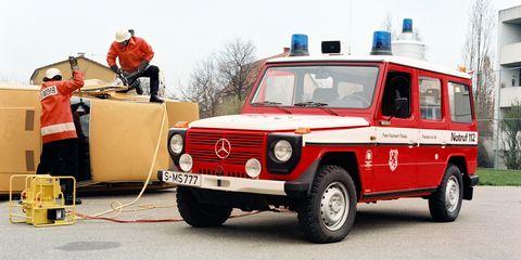 Vier Jahrzehnte G-schichte: Mercedes-Benz G-Klasse: Seit 1979 stilsicher durchs Gelände  Four decades of G history: Mercedes-Benz G-Class: mastering terrain with an assured sense of style since 1979
