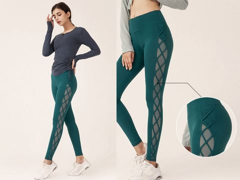 Clothing, Green, Waist, Tights, Active pants, Leggings, Sportswear, Trousers, Leg, Abdomen,