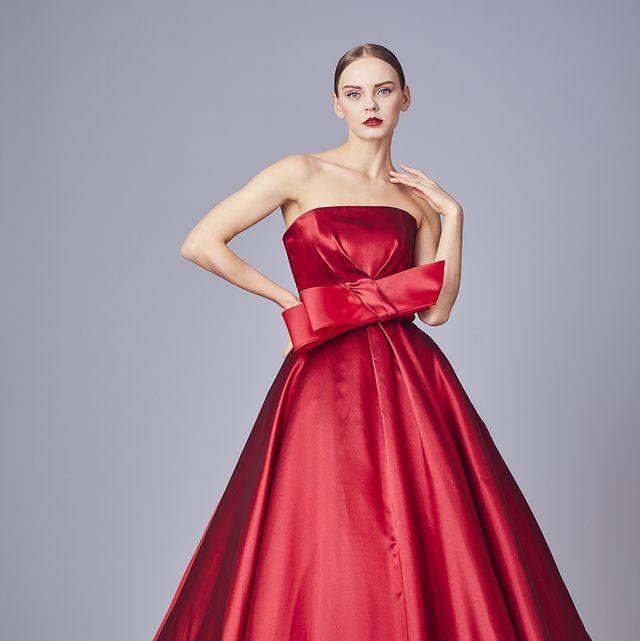 ミーチェのシルキーカラードレス