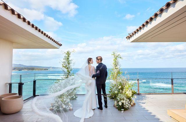 ハレクラニ沖縄での花嫁と花婿