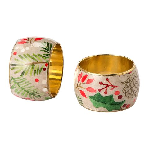 Bangle, Fashion accessory, Jewellery, Tableware, Holly, Metal,