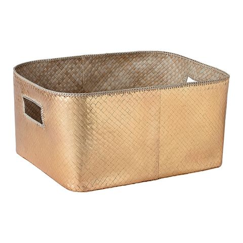 Beige, Storage basket, Basket, Rectangle,