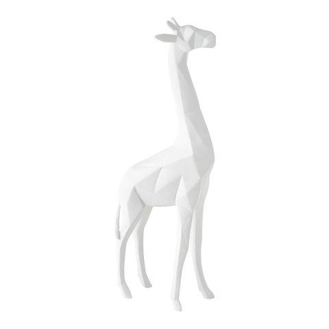 Giraffe, Giraffidae, White, Wildlife, Terrestrial animal, Tail, Animal figure,