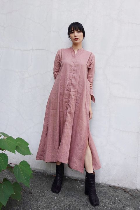 Clothing, Pink, Dress, Outerwear, Fashion, Neck, Sleeve, Formal wear, Fashion model, Fashion design,