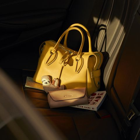 The relaunched Tod's D-Styling bag, the reimagined design of the D Bag made famous by Princess Diana.