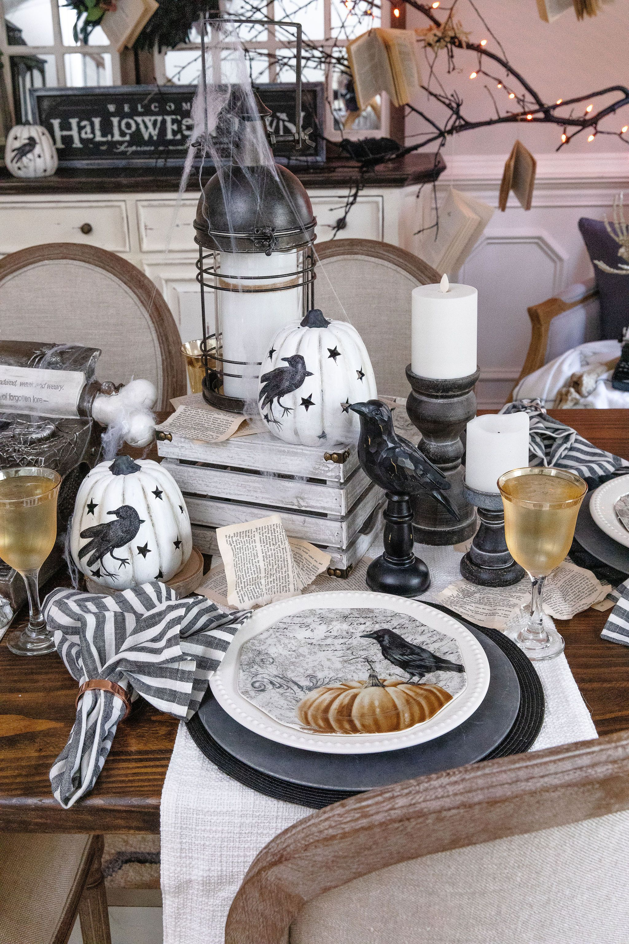 How a Simple Plate Inspired One Incredible, Edgar Allen Poe-Themed Room