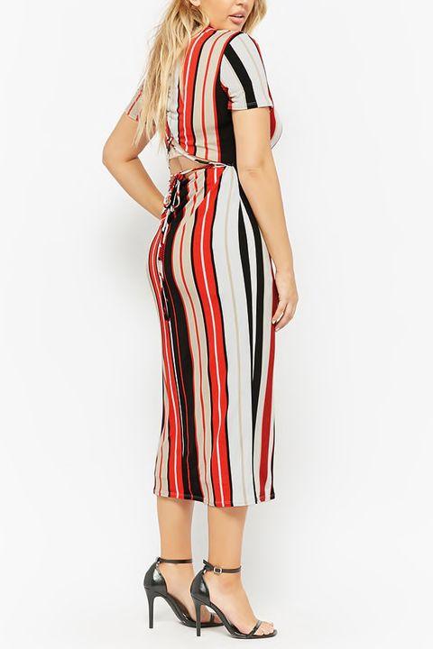 Clothing, Dress, Day dress, Fashion model, Shoulder, Neck, Sleeve, Cocktail dress, Waist, Sheath dress,