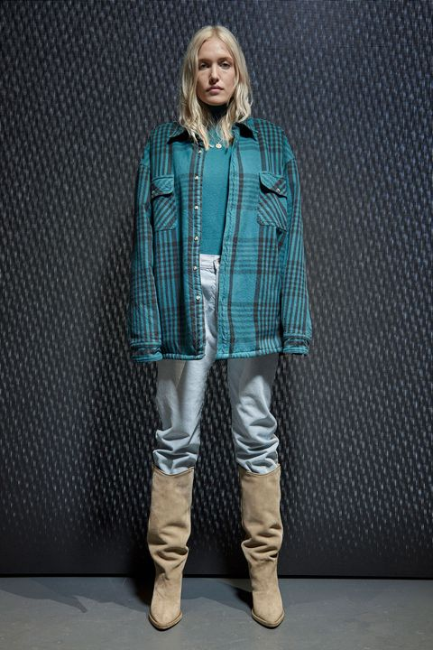 Clothing, Collar, Sleeve, Shoe, Textile, Outerwear, Boot, Style, Riding boot, Jacket,