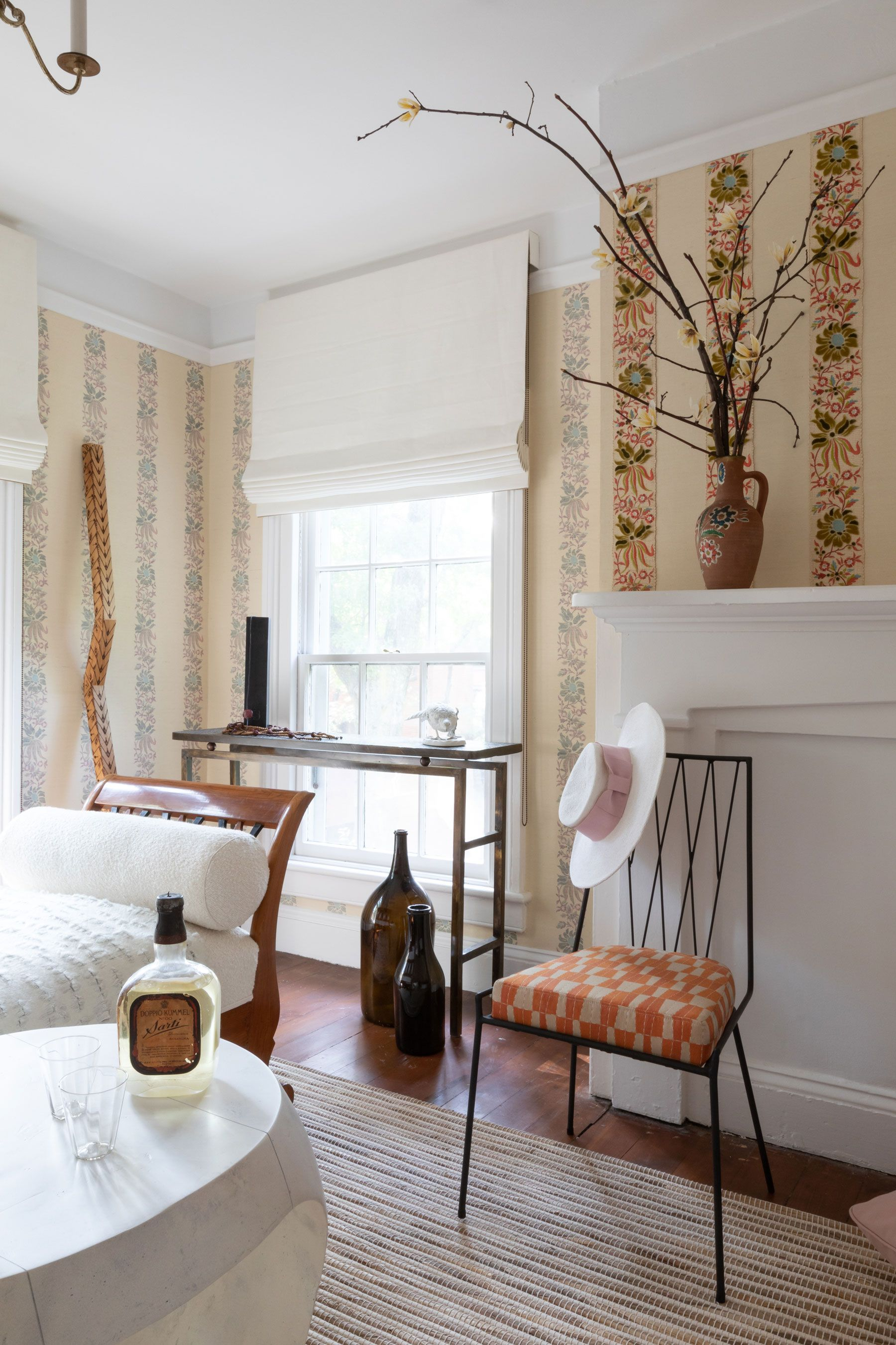 A Creative Alternative to Wallpaper Makes This Bedroom Delightfully Unique