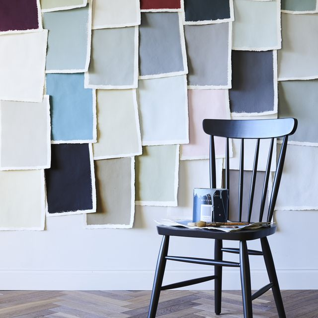 decorating paint swatches on wall