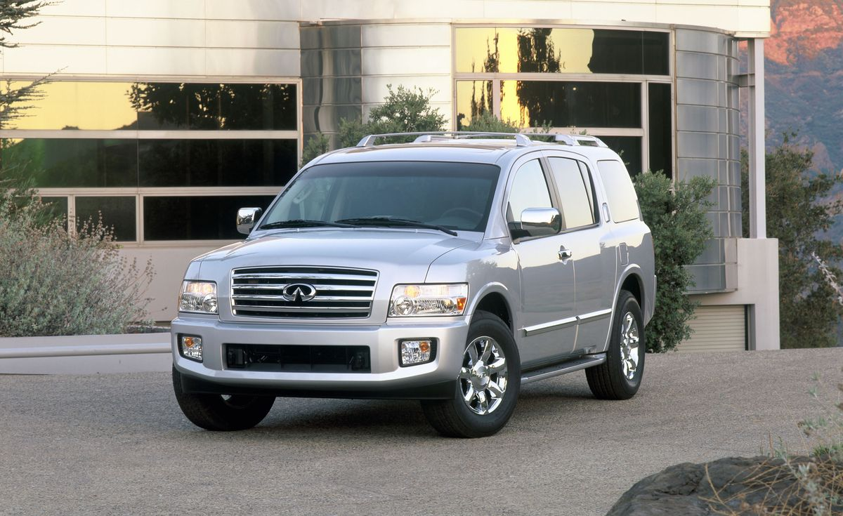 Infiniti QX56 (2004–2010) The first-generation Infiniti QX56 (now known as the QX80) was a chromed-up version of the Nissan Pathfinder Armada, meaning that both full-size SUVs were based on the Titan pickup truck. Infiniti fitted the massive QX56 with a car-like nose and elements from its sedans, creating a centaur-like monstrosity with an oddly domed roof and none of the mystical creature's elegance or muscularity.