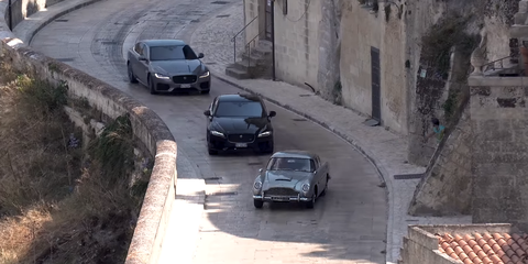 Aston Martin DB5 en el rodaje de 007 'No time to die'