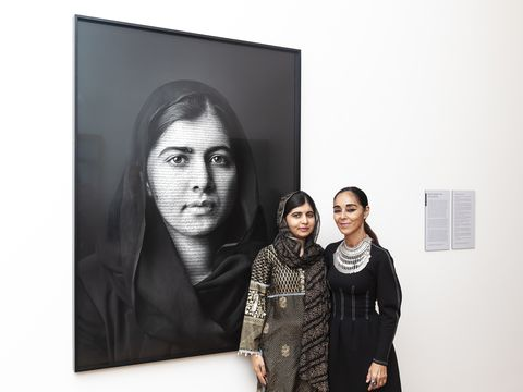 Malala Yousafzai Portrait Unveiling at the National Portrait Gallery