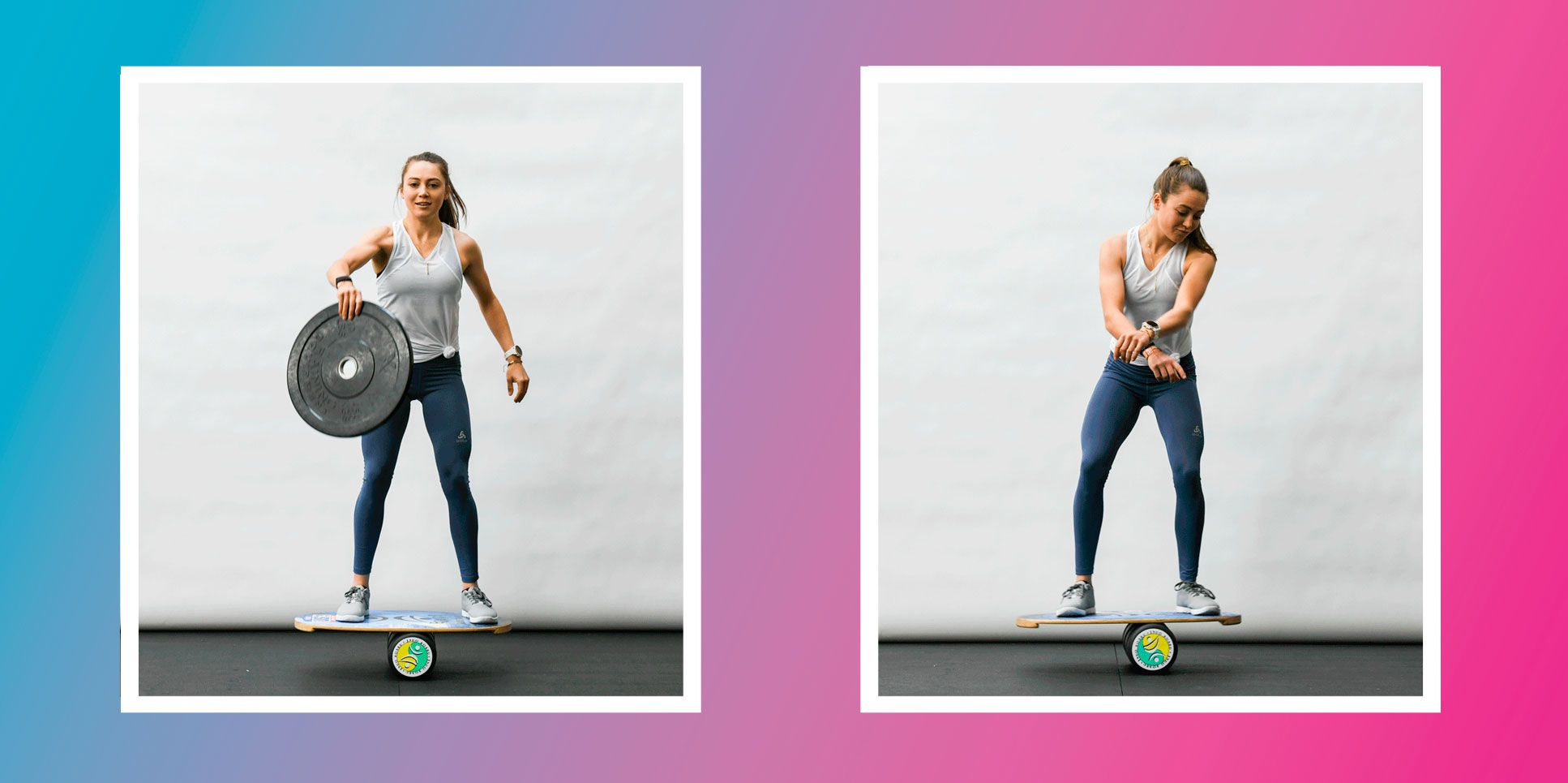 Kate Courtney Shares 11 Badass Balance Moves For Killer Core Strength