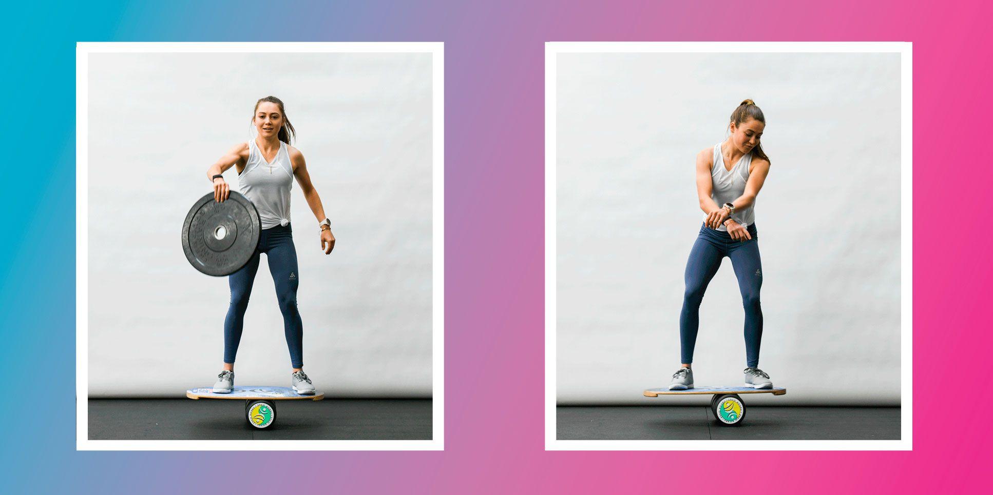 Kate Courtney Shares 11 Badass Balance Moves For Killer Core Strength