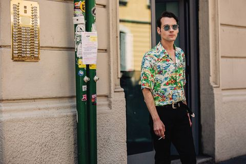 Green, Yellow, Standing, Eyewear, Street fashion, Glasses, Fashion, Vision care, Smile, Photography,