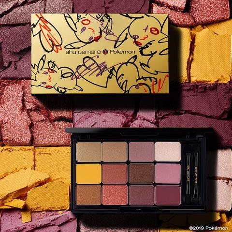 Eye shadow, Eye, Yellow, Pink, Wall, Beauty, Organ, Shadow, Tints and shades, Colorfulness,