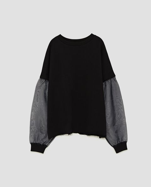 Clothing, Black, Sleeve, Outerwear, Blouse, T-shirt, Top,