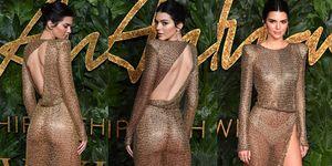 British Fashion Awards, Kendall Jenner, 英國時尚大賞, 2018 British Fashion Awards, 透明薄紗, 倫敦, 女星穿搭,女星紅毯