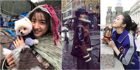 People, Fashion, Companion dog, Human, Collage, Photography, Selfie, Headgear, Street fashion, Smile,