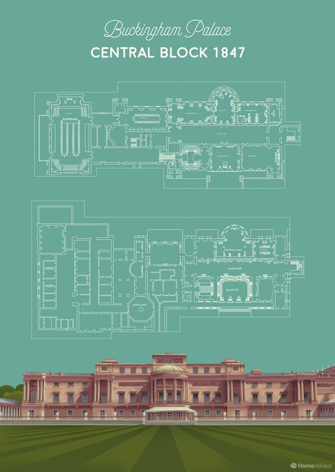 buckingham palace floor plan
