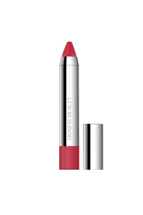 Honest Beauty Truly Kissable Lip Crayon in Strawberry Kiss