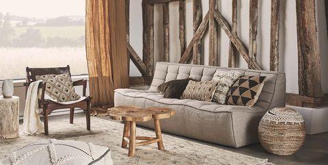Zara Home Cojines Y Mantas.Motivos Etnicos Y Materiales Naturales Asi Es La