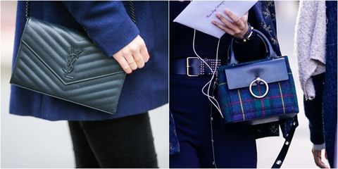 Bag, Handbag, Blue, Tartan, Electric blue, Cobalt blue, Fashion accessory, Street fashion, Plaid, Fashion,