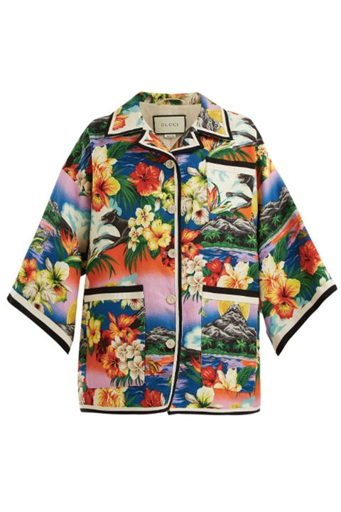 Clothing, Sleeve, Outerwear, T-shirt, Top, Jacket, Blouse, Pattern, Collar, Wildflower,
