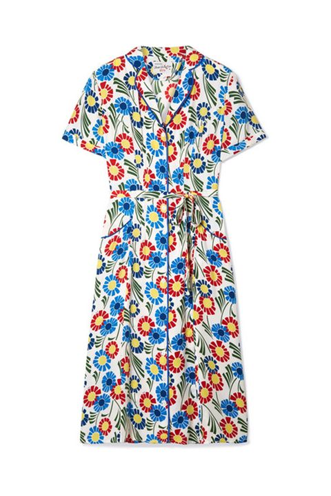 Clothing, Day dress, Dress, Blue, Sleeve, Pattern, Design, T-shirt, Top, Pattern,