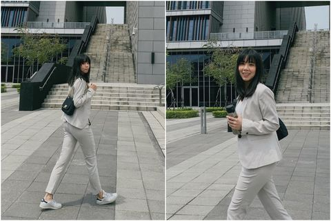White, Photograph, Snapshot, Street fashion, Standing, Photography, Infrastructure, Leg, Fencing, Footwear,