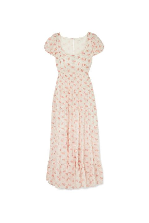 Clothing, Dress, Day dress, White, Pink, Cocktail dress, Beige, Peach, Sleeve, Gown,