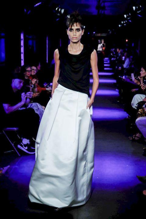 Fashion show, Waist, Fashion, Runway, Public event, Fashion model, Haute couture, Fashion design, Gown, Drum,