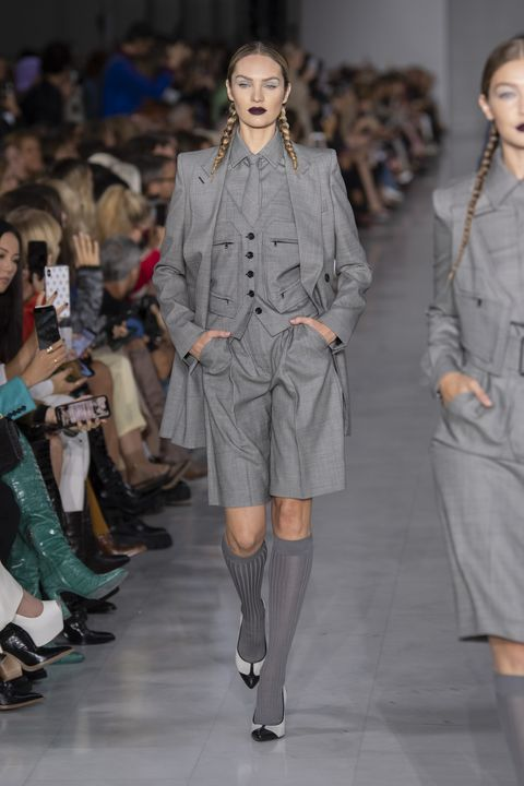 Fashion, Fashion model, Fashion show, Runway, Clothing, Fashion design, Footwear, Event, Outerwear, Public event,