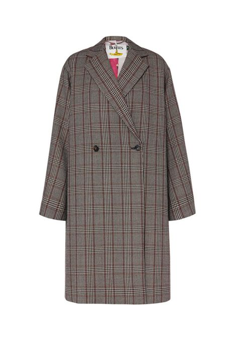 Clothing, Sleeve, Outerwear, Robe, Pattern, Plaid, Dress, Tartan, Design, Coat,