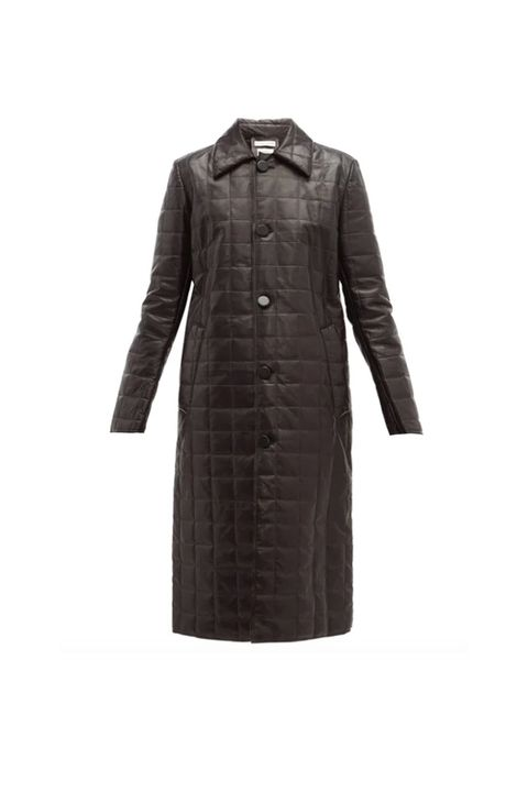Clothing, Coat, Black, Outerwear, Trench coat, Sleeve, Overcoat, Brown, Dress, Collar,