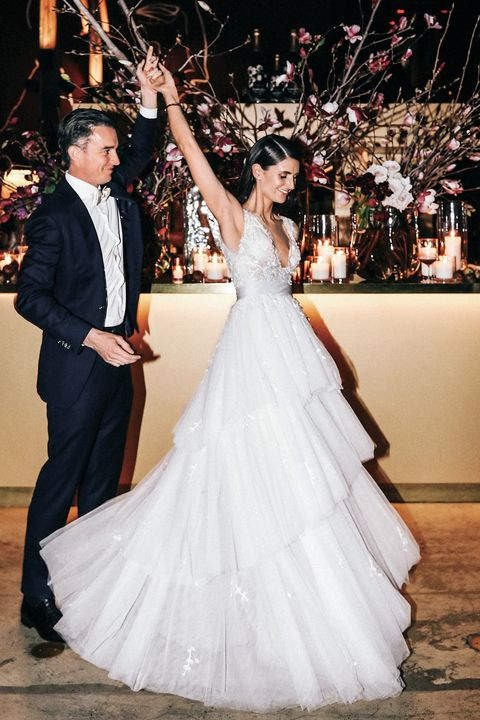 Gown, Wedding dress, Bride, Dress, Photograph, Bridal clothing, White, Clothing, Marriage, Shoulder,