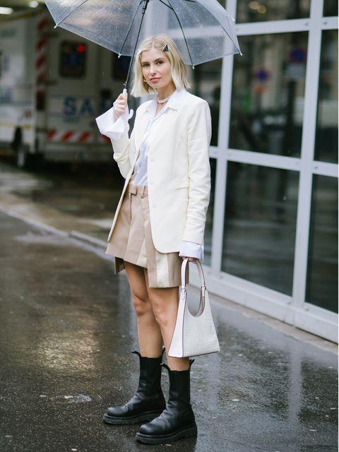 雨の日こそ楽しみたい、気分が上がるホワイトコーデ