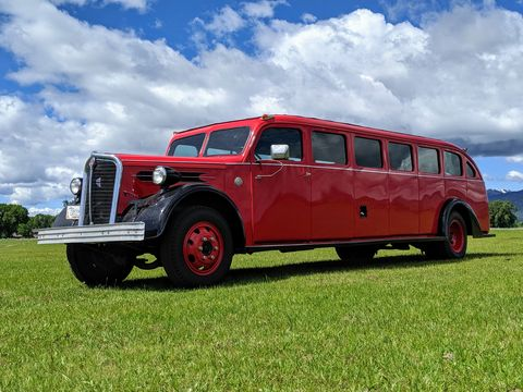 1937 mount rainier kenworth tour bus was the height of class for vacationers in the great depression