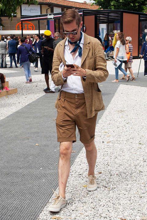 ショーツ, 短パン, パンツ, 海外 , スナップ, 海外スナップ, イタリア, フィレンツェ, ファッション