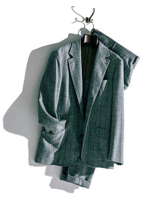 ジャケット, セーター , パンツ, グレイ, 名ブランド, 一生モノ, メンクラ,ファッション
