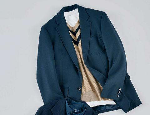 ブレザー, 紺ブレザー, ジャケット ,  メンクラ,ファッション