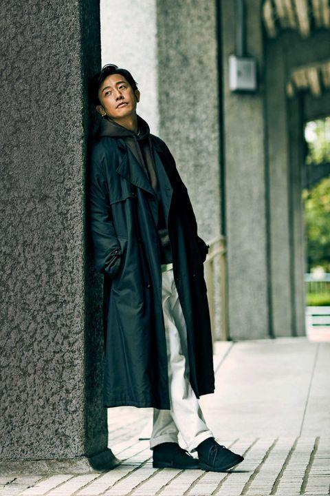 トレンチコート, コート, カジュアルスタイル,スタイル, 好印象, メンクラ, ファッション