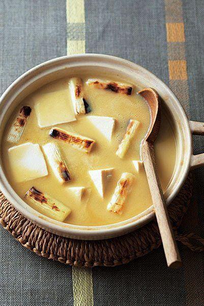 白味噌とねぎの湯豆腐